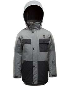 Orage Double Decker Boys Ski Jacket Heather Grey -G108 (17/18)