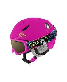 Giro Jr Launch Combo Pack Helmet Matte Bright Pink Penguin - (17/18)
