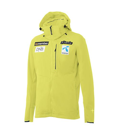 PHENIX Phenix Mens Norway Team Soft Shell Jacket Lemon1 -Lim (17/18)