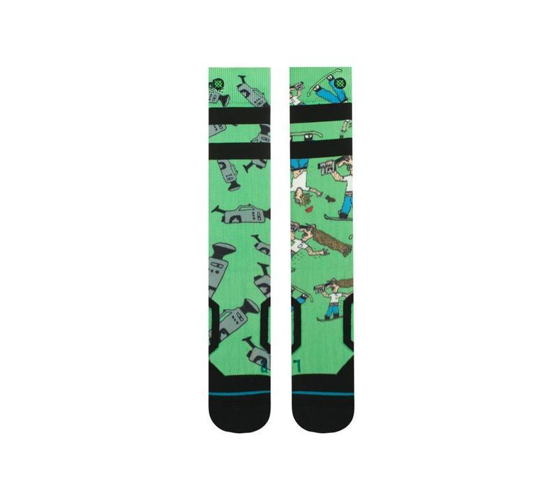 Stance Mens Dad Cam Chris Grenier Sock Green -Grn (17/18)