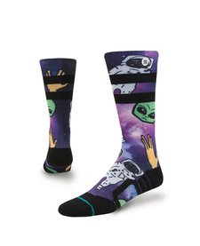 Stance Boys Space Out Kids Sock Purple -Pur (17/18) L