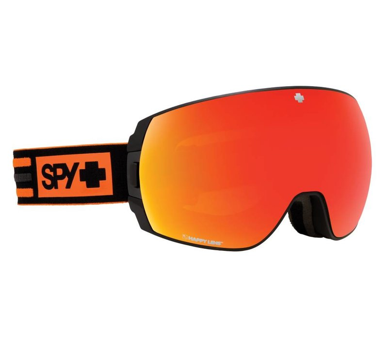 Spy Legacy New School Black-Happy Gray Green W/Red Spectra+Happy Persimmon W/Lucid Silver Goggle - (17/18)