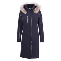 Descente Ladies Quebec Long Coat Bk- Black -93