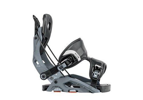 FLOW Flow Mens Fuse Snowboard Binding Gunmetal -Gun (17/18)