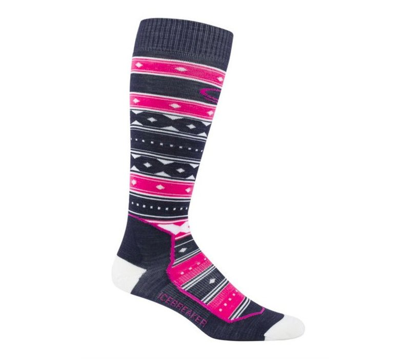 Icebreaker Wmns Ski+ Ultra Light Otc Icon Fairisle Admiral/Pop Pink/Snow -401 (17/18)