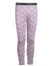 Icebreaker Kids Oasis Leggings Diamond Line Silk Hthr/Eggplant -501 (17/18)