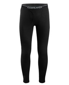 Icebreaker Mens Oasis Leggings W Fly Black -1 (17/18)