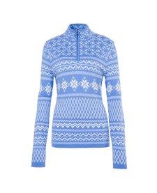 Fera Meister Womens Grace Merino Wool Sweater Cornflower/Winter White -465 (17/18)