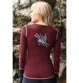 ALP-N-ROCK Alp-N-Rock Vintage Ski Ladies Henley Shirt Dark Berry -dby (17/18)