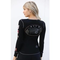 Alp-N-Rock Ski Lift Ladies Henley Shirt Black -blk (17/18)