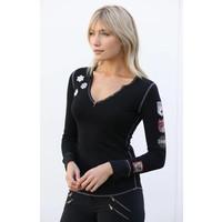 Alp-N-Rock Ski Lift Ladies Henley Shirt Black -blk (17/18)