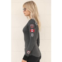 Alp-N-Rock Team Canada Ladies L/S Crew Shirt Heather Black -hbk (17/18)