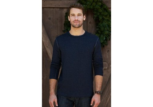 ALP-N-ROCK Alp-N-Rock Ale Alpine Mens L/S Crew Shirt Heather Navy -Hny (17/18)