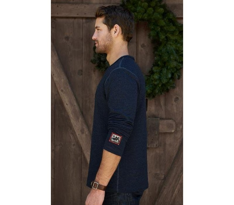 Alp-N-Rock Ale Alpine Mens L/S Crew Shirt Heather Navy -Hny (17/18)