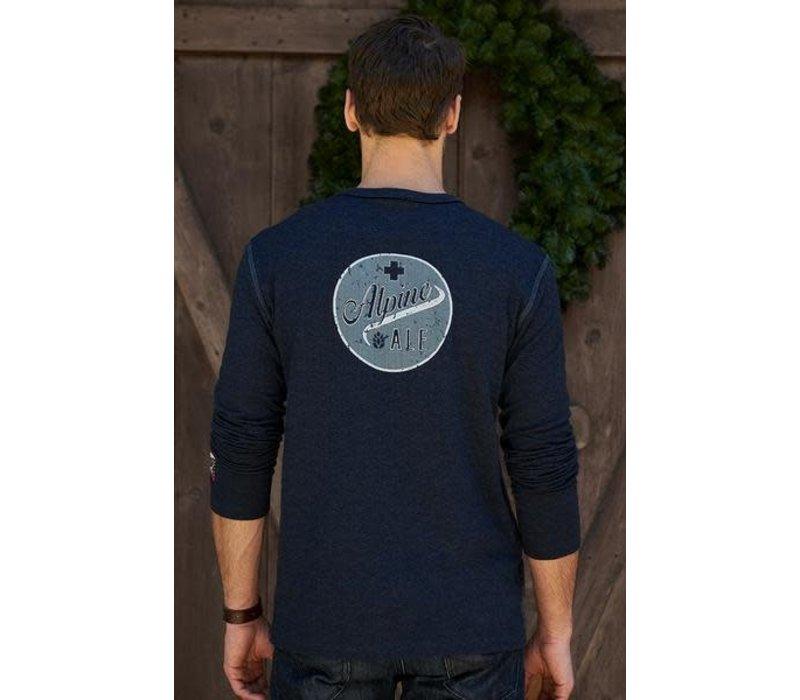 Alp-N-Rock Ale Alpine Mens L/S Crew Shirt Heather Navy -Hny (17/18)