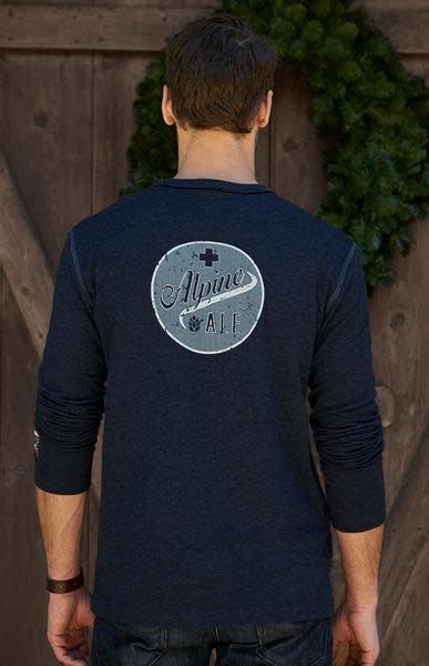 ALP-N-ROCK Alp-N-Rock Ale Alpine Mens L/S Crew Shirt Heather Navy -Hny (17/18)