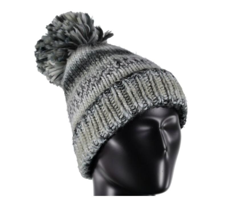 Spyder Womens Twisty Hat 001 Black/White/Limestone - (17/18) ONE SIZE