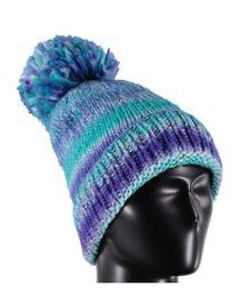 Spyder Womens Twisty Hat 449 Baltic/White/Blue My Mind - (17/18) ONE SIZE