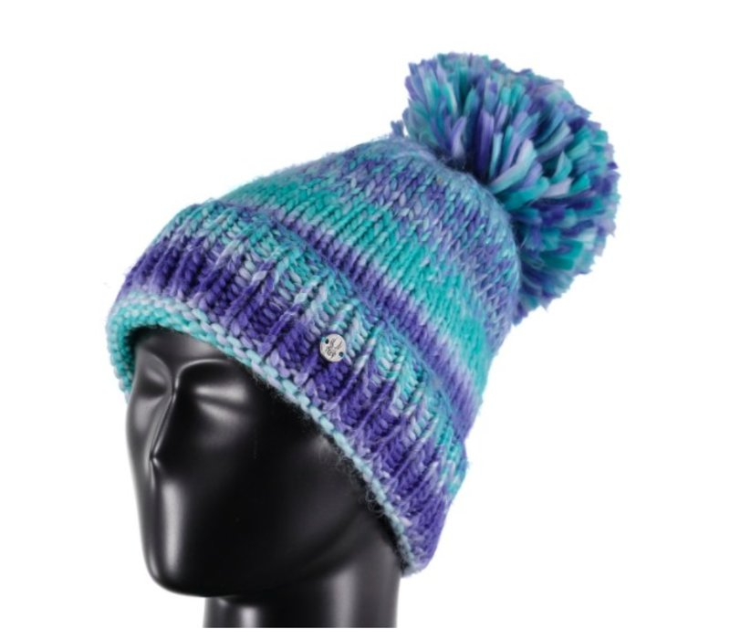 Spyder Womens Twisty Hat 449 Baltic/White/Blue My Mind - (17/18) ONE SIZE