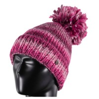 Spyder Womens Twisty Hat 506 Amaranth/White/Raspberry - (17/18) ONE SIZE