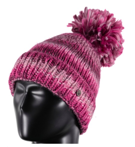 SPYDER Spyder Womens Twisty Hat 506 Amaranth/White/Raspberry - (17/18) ONE SIZE