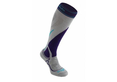 BRIDGEDALE Bridgedale Womens Vertige Mid Sock Silver/Purple -005 (17/18)