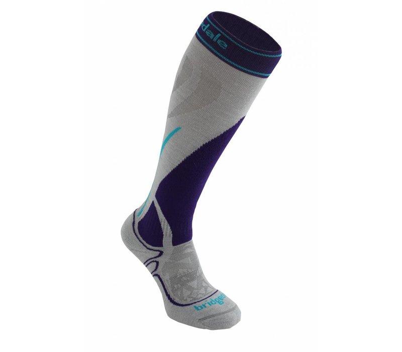 Bridgedale Womens Vertige Mid Sock Silver/Purple -005 (17/18)