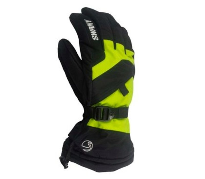 Swany Mens X-Over Glove Black/Lime -398 (17/18)