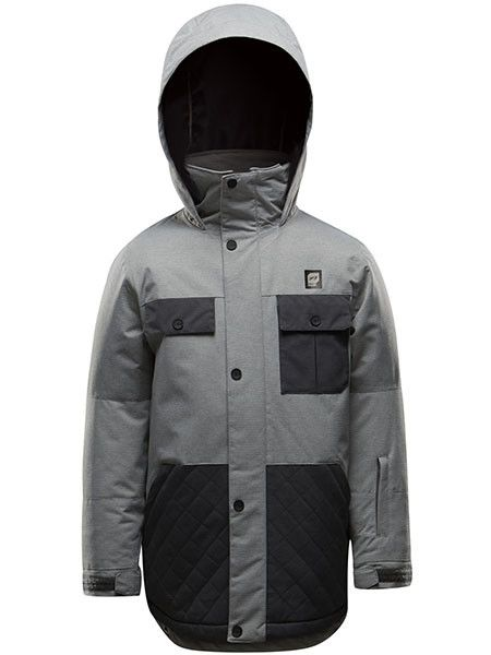 ORAGE Orage Double Decker Boys Ski Jacket Heather Grey -G108 (17/18)