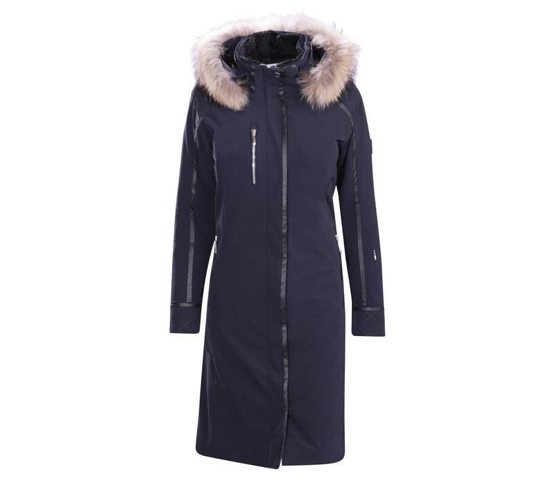 Descente Ladies Quebec Long Coat Bk- Black -93
