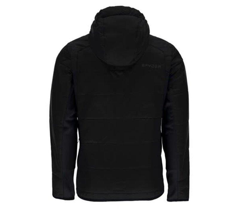 Spyder Mens Glissade Full Zip Hoody Insulator Jacket 001 Black/Black/Black - (17/18)