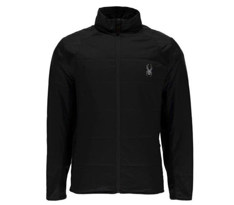 Spyder Mens Glissade Full Zip Insulator Jacket 001 Black/Black/Black - (17/18)