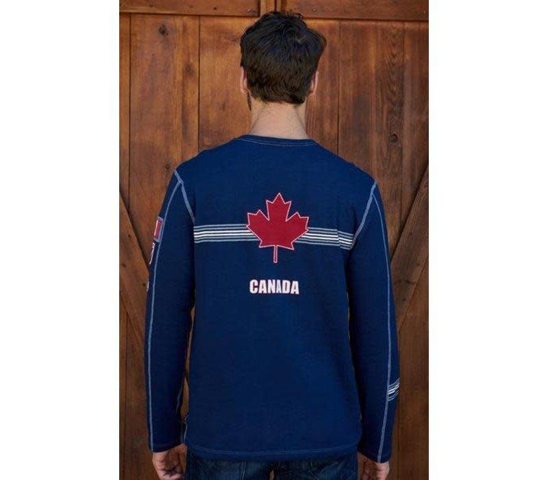 Alp-N-Rock Team Canada Mens L/S Crew Shirt Navy - Nvy (17/18)