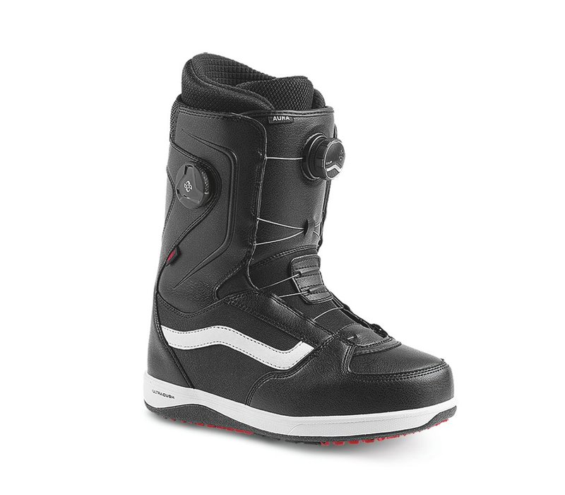 Vans Mens Aura Snowboard Boot Black/White/Red 17 - (17/18)