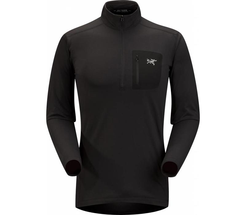 Arc'Teryx RHO LT Zip Neck Mens Black
