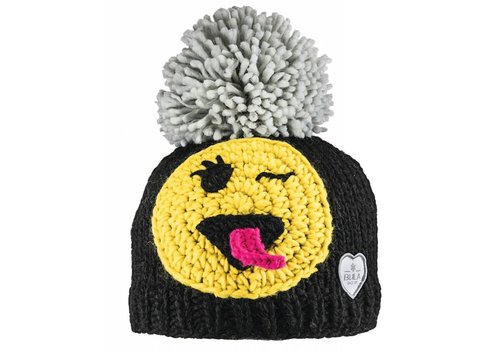BULA BULA KIDS HAPPY BEANIE BLACK