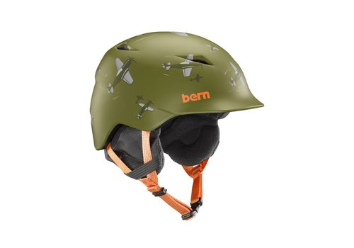 BERN Bern Boys Camino Helmet Matte Green Dogfight