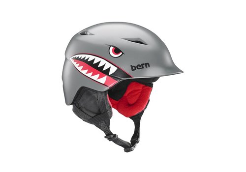 BERN Bern Boys Camino Helmet Satin Grey Flying Tiger