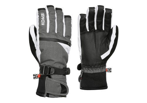 KOMBI KOMBI THE FREERIDER MENS GLOVE 4583 GUN METAL TONAL PLAID