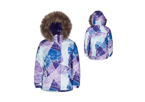 JUPA JUPA KIDS GIRLS ANASTASIA JACKET GIVERNY VIOLET PRINT-PK085-A4 WITH BEATRICE POLAR FLEECE TOP PANT GIVERNY VIOLET-PK085