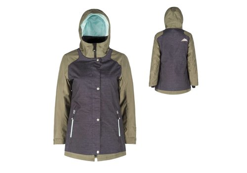 JUPA JUPA JUNIOR GIRLS KELSEY JACKET GREY DENIM PRINT-GM-A11