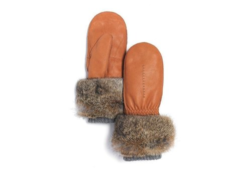 Brume BRUME RED DEER MITT, DEERSKIN -BROWN-02