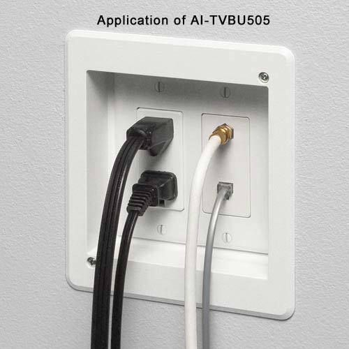 Arlington Double Gang Recessed Tv Box Tvbu505 Audio