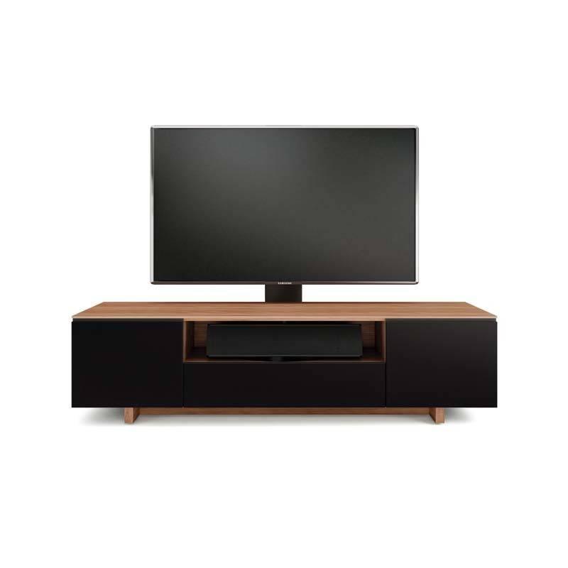 Bdi Bdi Nora 8239 S Wl Tv Cabinet Natural Walnut With Black Micro