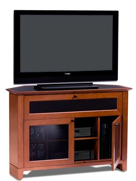 BDI BDI Novia 8421 CH,  Corner TV- Cabinet, Natural Stained Cherry