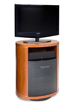 BDI BDI Revo 9980 CH, Swiveling TV- Cabinet, Natural Stained Cherry