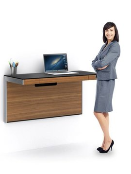 BDI BDI Sequel 6004 WL, Wall Desk,  Natural Walnut