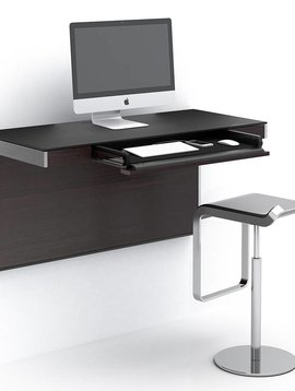 BDI BDI Sequel 6004 ES, Wall Desk, Espresso Stained Oak