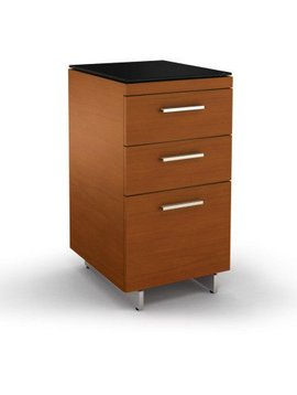 BDI BDI Sequel 6014 CH, Three Drawer Cabinet, Natural Stained Cherry