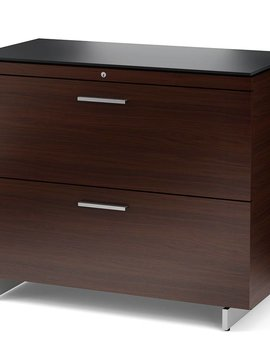 BDI BDI Sequel 6016 CWL, Two Drawer Locking Lateral File Cabinet, Chocolate Stained Walnut